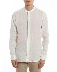 Z Zegna Mandarin Collar Shirt - White