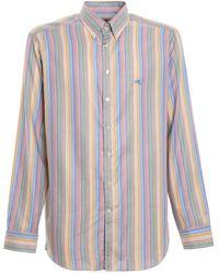 Etro - Multicolour Striped Cotton Shirt - Lyst