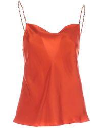Dondup Jewel Straps Top - Orange