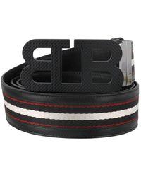 Bally B-mirror Reversible Belt - Black