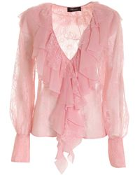 Blumarine Lace Blouse - Pink