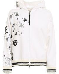 Ermanno Scervino Embellished Hoodie - White