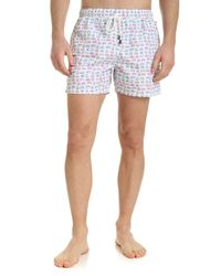 Fedeli Madeira Swim Trunks - White