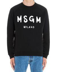 MSGM Contrasting Logo Sweatshirt - Black