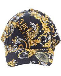 Versace Jeans Couture Logo Baroque Couture I Print Cap - Black