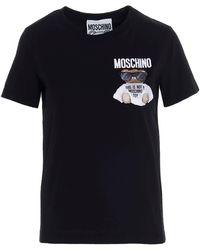 Moschino - T-Shirt Micro Teddy Bear Nera - Lyst
