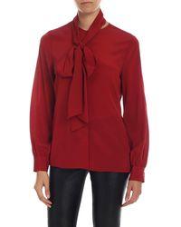 Ballantyne Stretch Silk Shirt - Red
