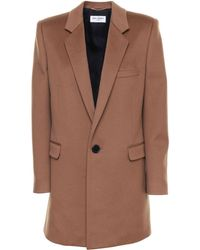 Saint Laurent Wool Coat - Brown