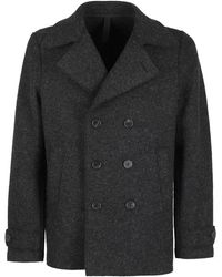 Harris Wharf London Wool Blend Peacoat - Grey
