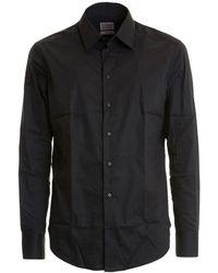 Armani Slim Fit Classic Black Cotton Shirt