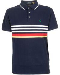 Polo Ralph Lauren Classic Striped Polo Shirt - Blue