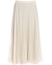 Weekend by Maxmara Andes Pleated Skirt - Natural