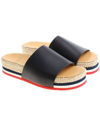 Moncler - Evelyne Sliders With Rope Insert - Lyst