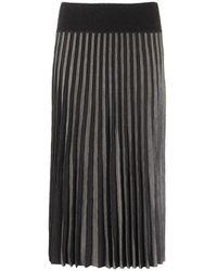 Agnona Pleated Skirt - Grey