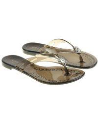 Casadei - Black Jelly Sandals - Lyst
