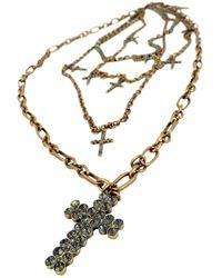 Twin Set Multiple Chain Necklace - Metallic