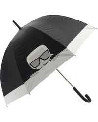 Karl Lagerfeld Karl Ikonic Large Umbrella In Black