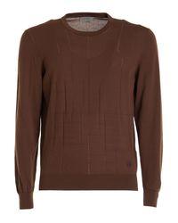 Corneliani Brown Cotton Sweater
