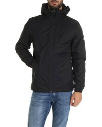 The North Face Black Down Jacket With Logo On The Sleeve