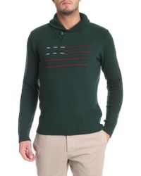 Woolrich - Green Embroidered Pullover - Lyst