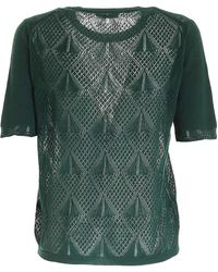 Ballantyne Drilled Knitted Pullover - Green
