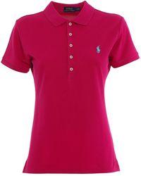 Ralph Lauren Slim Fit Cotton Polo Shirt - Pink