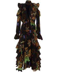 Off-White c/o Virgil Abloh Leaves Long Romantic Dress - Black
