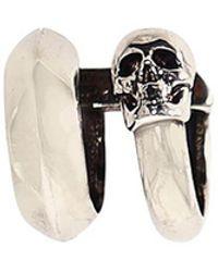 Alexander McQueen Skull Earcuff - Metallic