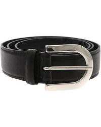 Orciani Black Lotus Belt With Silver Buckle