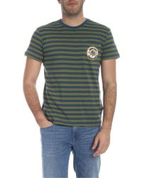 ce7c85b9214 Paul   Shark Crew Neck Striped T-shirt for Men - Lyst