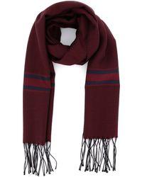 Corneliani Wool-silk Blend Scarf - Red