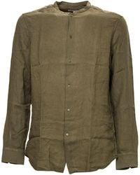 Paolo Pecora Linen Shirt - Green