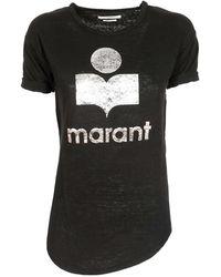 Étoile Isabel Marant Koldi Logo T Shirt - Black