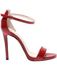 Marc Ellis Fuchsia Leather Sandals - Red