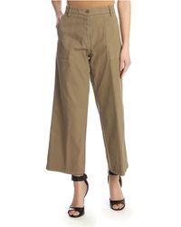 Etro - Pantalone Cropped Beige - Lyst