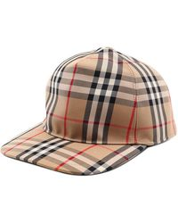Burberry Vintage Check Cotton Blend Baseball Cap - Natural