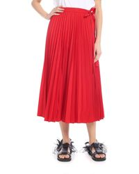 Valentino - Pleated High-rise Cotton-blend Wrap Skirt - Lyst