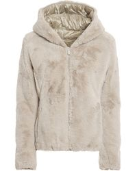 Save The Duck Faux Fur And Nylon Reversible Padded Jacket - Natural
