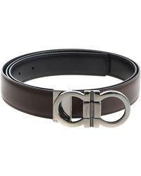 Ferragamo - Dark Brown Belt With Buckle Closure - Lyst