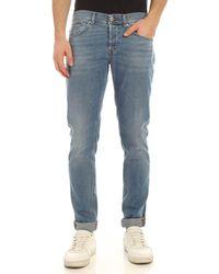 Dondup Jeans George Azzurro Delavè - Blu