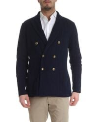 Lardini Double-breasted Cardigan-jacket - Blue