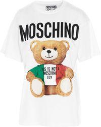 Moschino Teddy Bear Print Oversized T-shirt - White