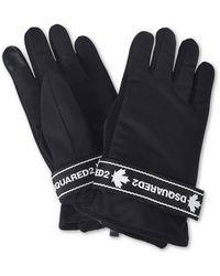 DSquared² Gloves With Branded Velcro Strap - Black