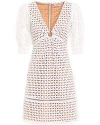 Michael Kors Broderie Anglaise Dress With Eyelet - White
