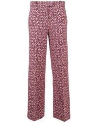 Circolo 1901 Floral-print Pants - Pink