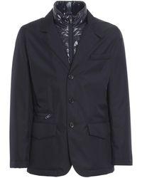 Fay Blazer-style Puffer Jacket - Blue