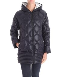 Iceberg - Black Down Jacket With Vents On The Bottom - Lyst