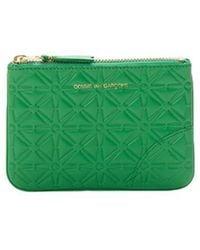 Comme des Garçons Printed Leather Case - Green