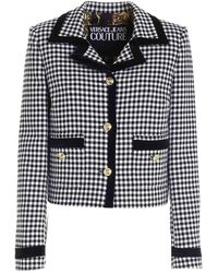 Versace Jeans Couture Houndstooth Jacket - White