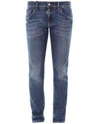 Dolce & Gabbana Faded Denim Jeans - Blue